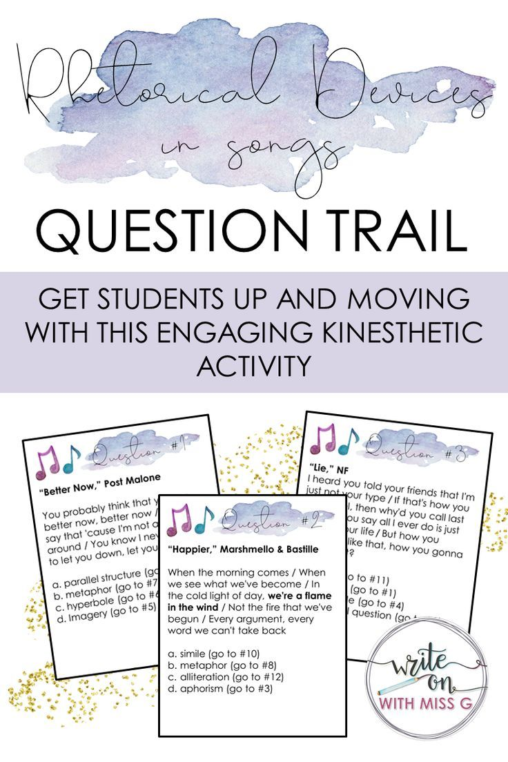 Rhetorical Devices In Songs 2 Engaging Kinesthetic Question