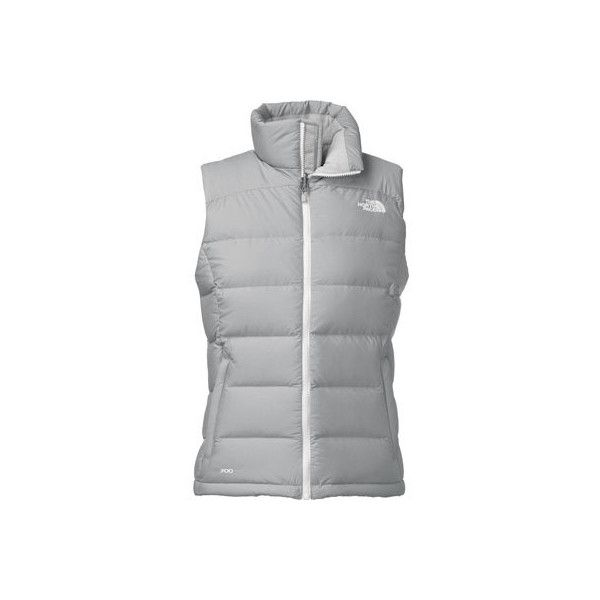Women's The North Face Nuptse 2 Vest 2015 - High Rise Grey Heather/TNF... ($149) ❤ liked on Polyvore featuring outerwear, vests, vest waistcoat, white vest, white down vest, grey waistcoat and white waistcoat