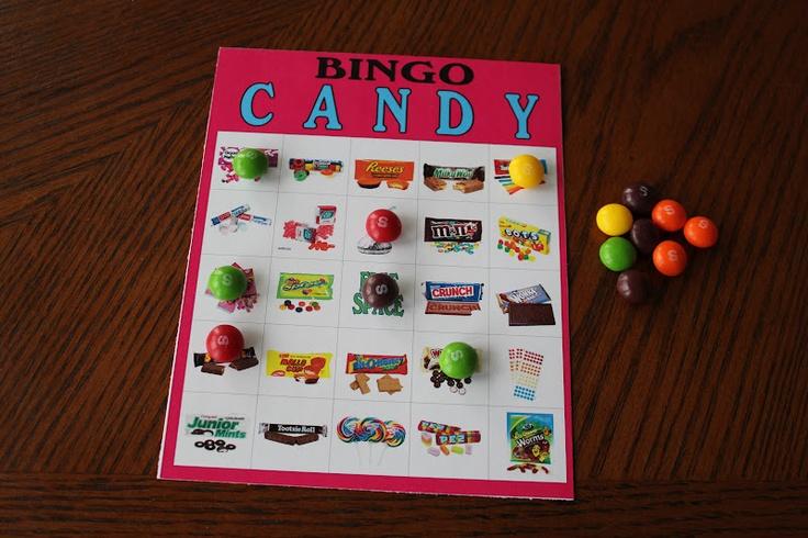 Bingo Sheets Bingo And Candy On Pinterest