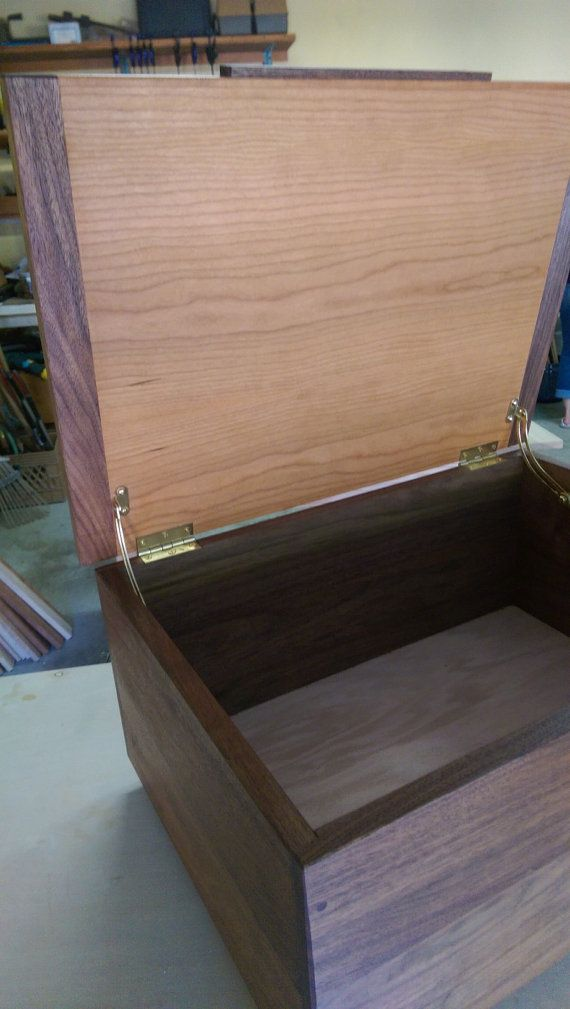 Large Wooden Box from Walnut and Cherry by AntonelliWoodcrafts