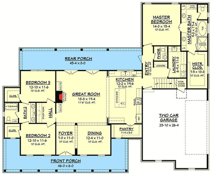 17 best images about house on pinterest house plans for Three bedroom house plans with bonus room