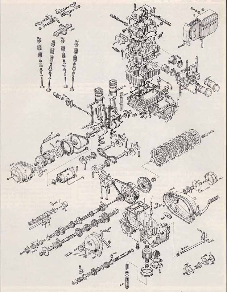 17 best images about motorcycle engine exploded view