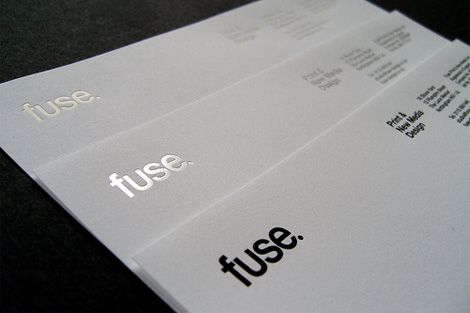 Letterhead printed with three different foils