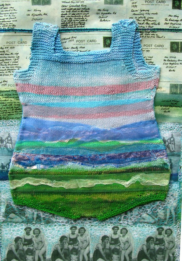 Textile.Knitting ,fabric printing,machine embroidery. My first 'cozzie'