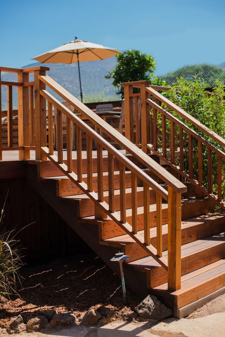 76 best our work images on pinterest fence fencing and picture redwood railing and stairs aandjfencing baanklon Image collections