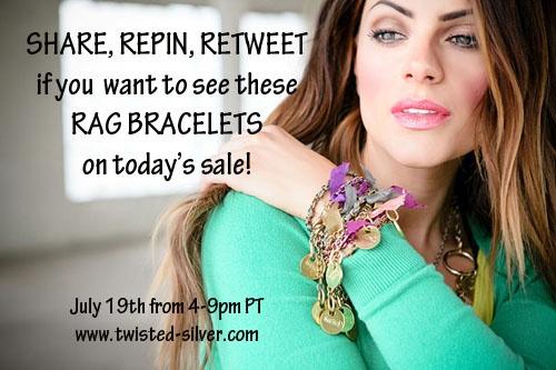 want the Rag bracelets on today's sale? Repin away, my Pinterest friends :): Today Sales, Online Deals, Rag Bracelets, Bedazzled Brilliant, Accessories Shops, Favorite Items, Pinterest Friends, Jewelry Talk, Shops Bliss