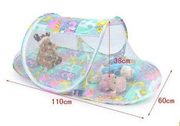 Складной детская кровать москитная сетка мгновенных палатка сетки многофункциональный манеж Pop up