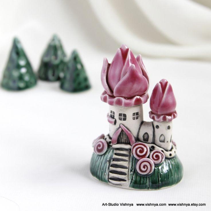 Flower style roof - Pink fairy house by vavaleff.deviantart.com on @DeviantArt