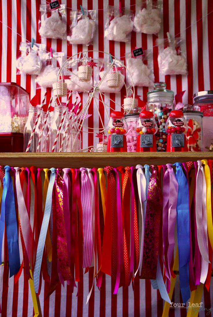 Ribbon garland, Carnival table by Four Leaf Styling