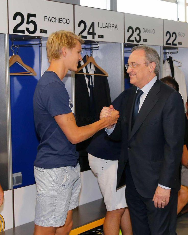 Martin Ødegaard y Florentino Pérez - Real Madrid