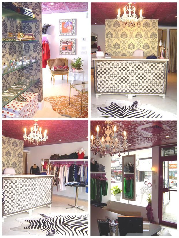 Id Totally Add Zebra Stuff If I Owned A Clothing Store Boutique InteriorBoutique DecorBoutique DressesWindow DesignCeiling