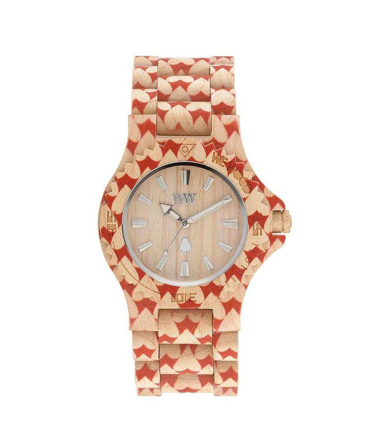 WeWOOD Hodinky DATE HEART Beige, 1790 Kč | Slevy hodinek