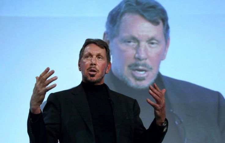3. Larry Ellison - worth $41 billion  He was adopted at the age of nine months by his aunt and uncle after his own parents gave him away. He went to college but left early to begin working on a database by the name of Oracle. It was sold to the CIA for so much money that it allowed him to buy the majority stake in Ampex, he changed the name to Oracle Systems Corporation and took over. - worthly.com