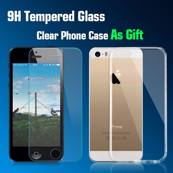 Gehärtetem glas displayschutzfolie für apple iphone 5 5c 5 s se lcd glas bildschirm schutzglas film für iphone 5 s i5 5