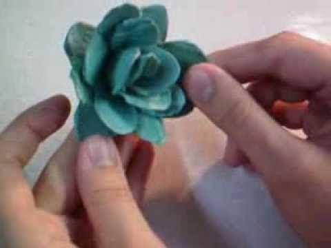 DIY: Rosas feito com caixa de ovos.vintage paper roses, carton eggs - YouTube …