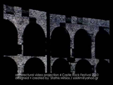 architectural projection at castle rock festival 2010 (stonewall)