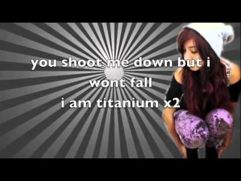 Christina Grimmie - Titanium (Lyrics On Screen)  LOVE Christina Grimmie XD She does the best covers in the world on her Piano! XD
