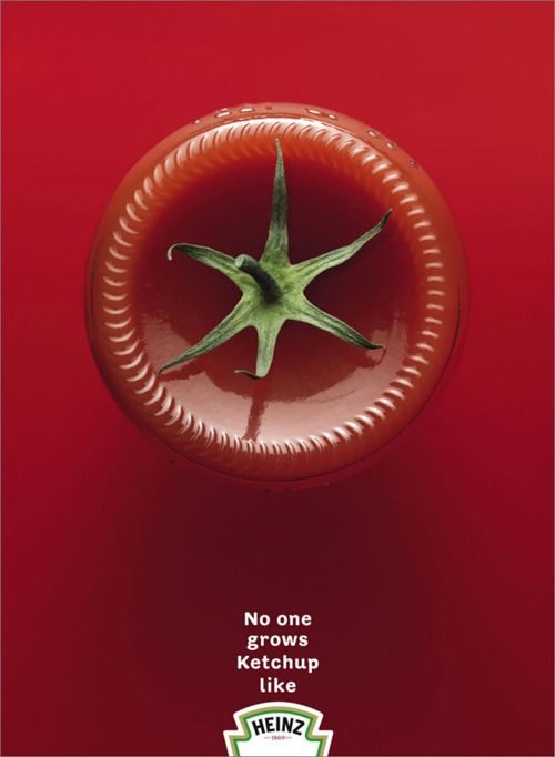 Heinz Tomato Ketchup advertising in print