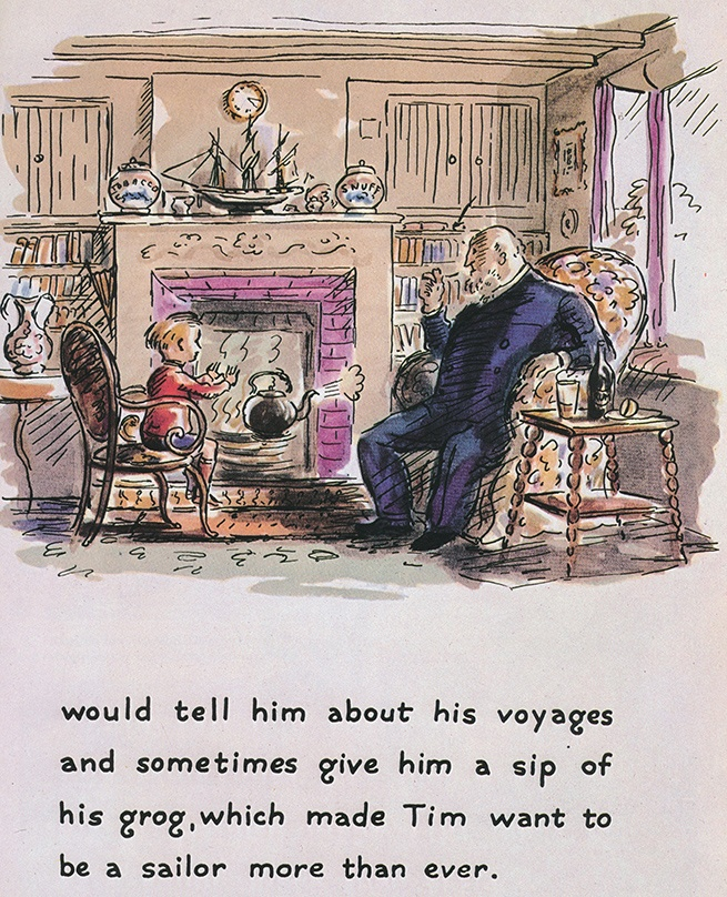 "Edward Ardizzone, an early influence. (From ""Tim Goes to Sea"")"