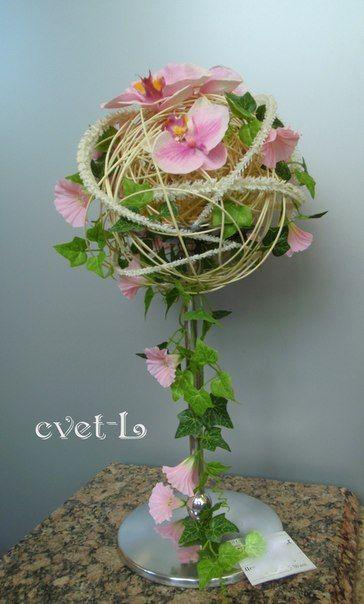 319Мастер класс по флористике из искусственных цветов
