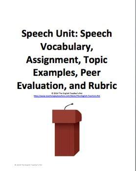 Public speaking speech essay