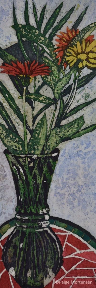 "Healing ©Paige Mortensen Watercolour 8x24""  $300"