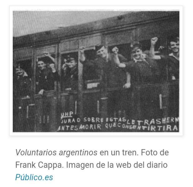 Brigadistas argentinos que vinieron a luchar por la República en las Brigadas Internacionales