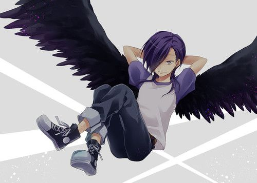 Nice Most popular tags for this image include: anime, аниме, Люцифер/Урушихара, lucifer and purple hair 8