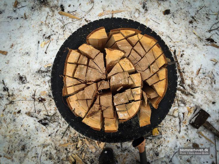 Chopping wood the smart way …