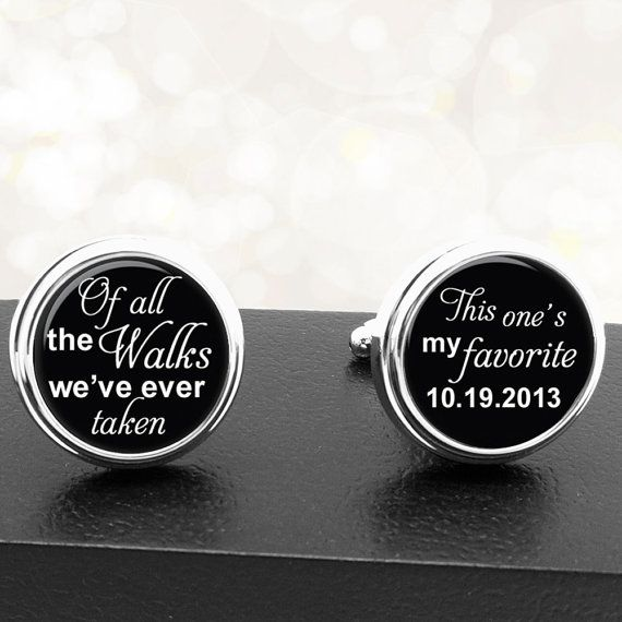 Custom Wedding Cufflinks Personalized Saying by BelugaHomeStudio, $39.95