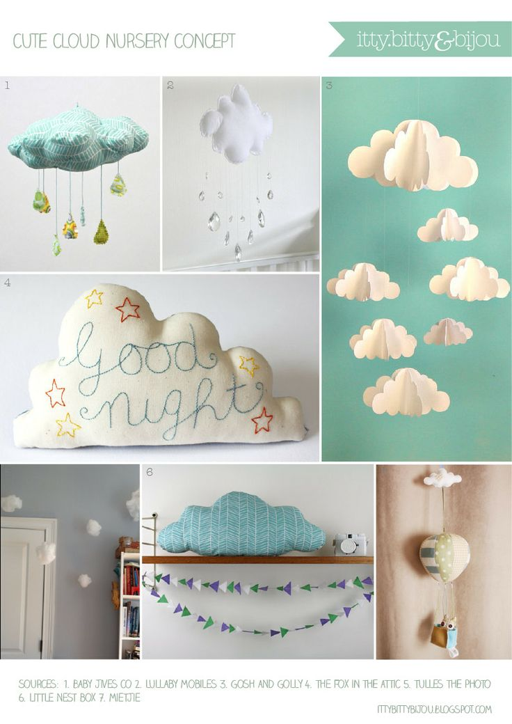 Cute cloud nursery design concept from Itty Bitty & Bijou