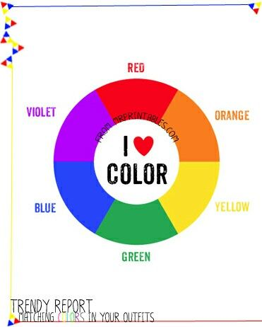 printable color wheel secondary colors- cute for art room, playroom or  child's room.