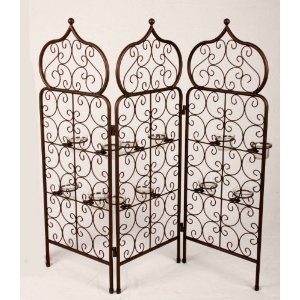 Room Screen/Divider with 12 tealight holders