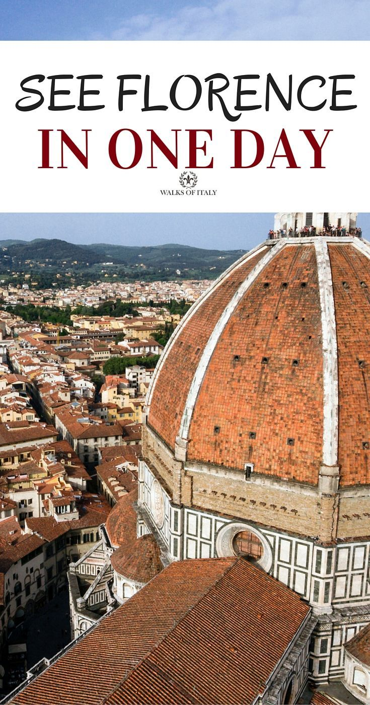 Traveling to Florence, here's what to see and what to do in Florence in one day.