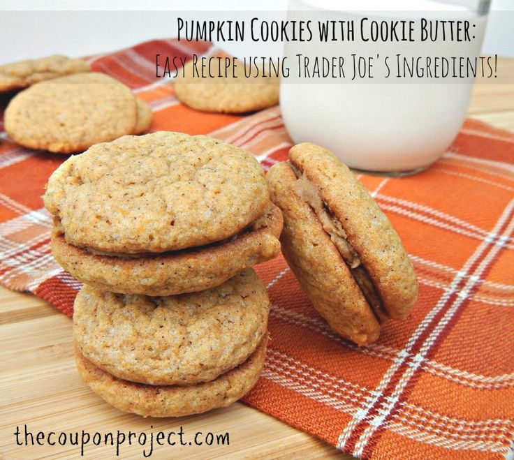 one box Trader Joe's pumpkin bread mix + one container Trader Joe's cookie butter = a simple, delicious cookie recipe!