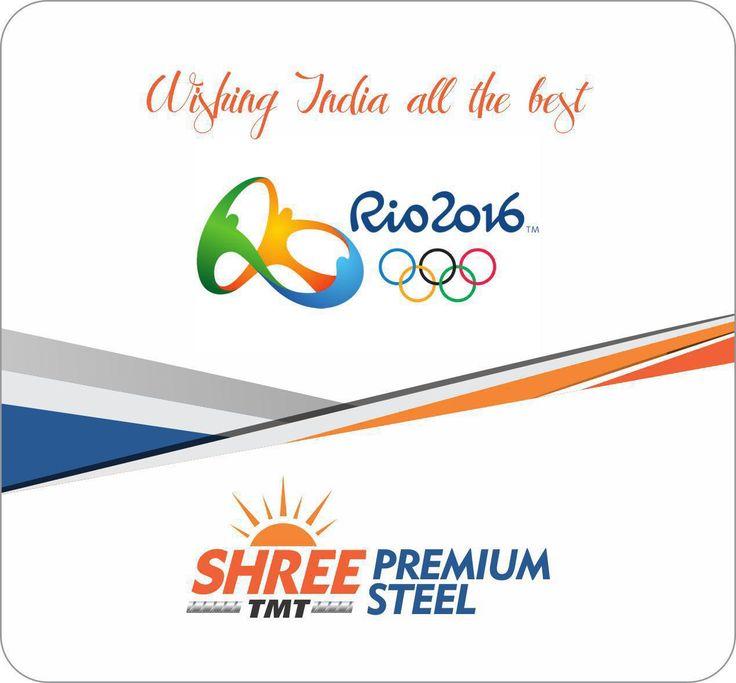 All the best to India #rioolympics, #steelbars   #tmtbars   #steelmanufacturers   #steelsuppliers
