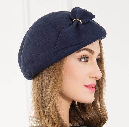 Maitose? Women\'s Decorative Bow 100% Wool Beret B0182DW6JO