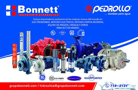 Grupo Bonnett, equipos eficientes en sistemas de agua y fluidos.