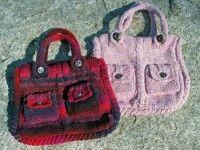 Вязанные сумки спицами Aurora