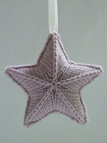 Knitting Pattern Christmas Star : Knitted Star pattern Stjarna by Karolina Eckerdal. Perfect for scraps of any ...