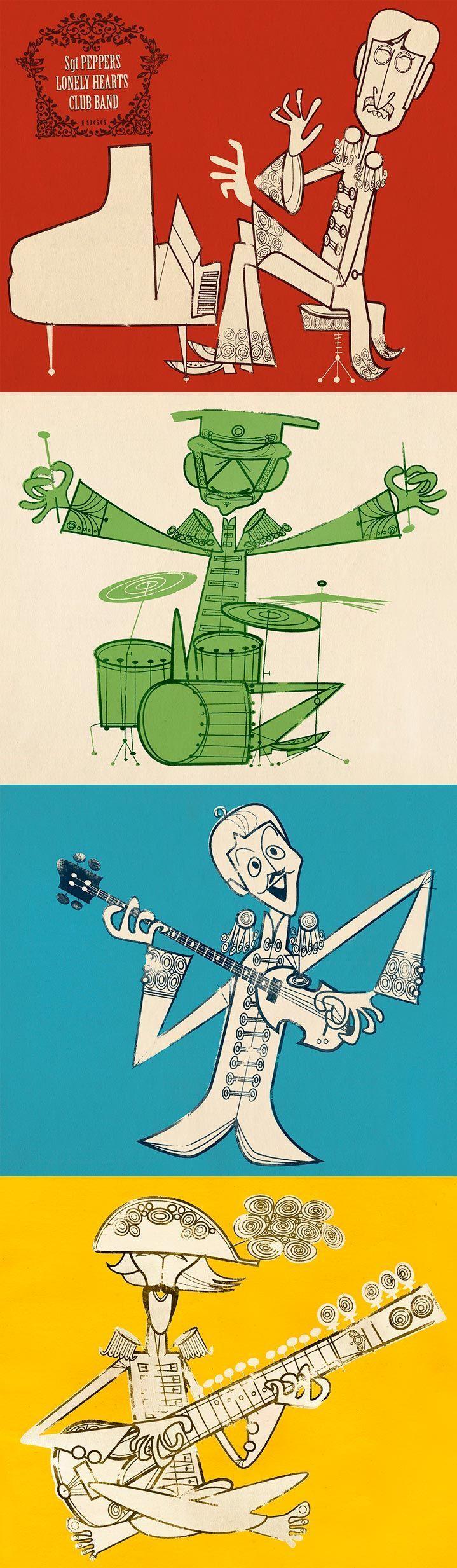 Jonas Bergstrand | Illustrators | Central Illustration Agency #illustration #music #thebeatles