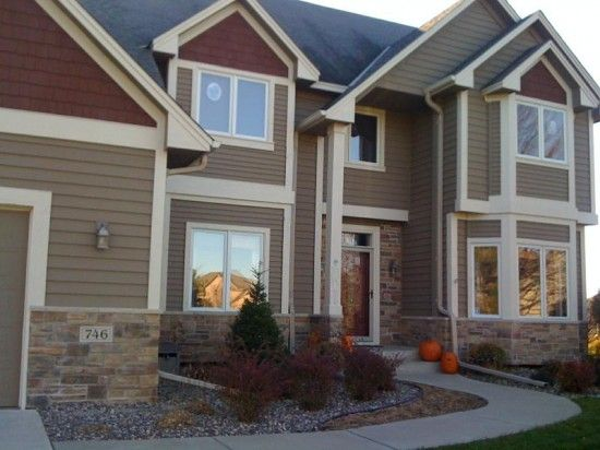 Taupe house color 2 exterior home pinterest exterior - Brown exterior house paint ...
