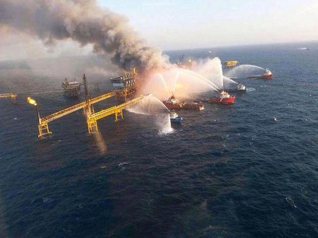 Una Plataforma Petrolera Explotó En El Golfo De México: Aseguran Que Hay 15 Heridos