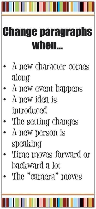 Changing Paragraphs