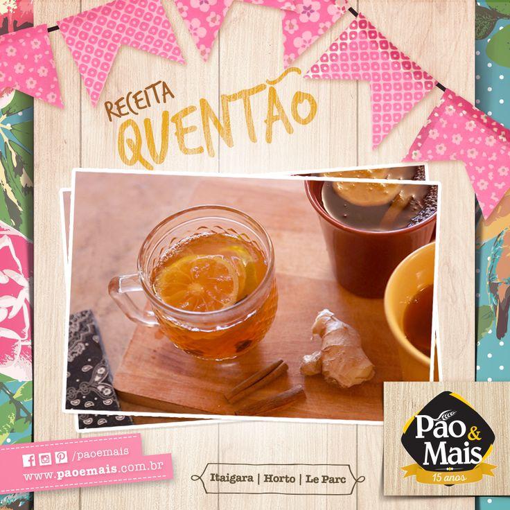 Uma das bebidas mais tradicionais do São João, o quentão não pode ficar de fora da sua festa junina. Confira a receita -> http://bit.ly/1Psuvph