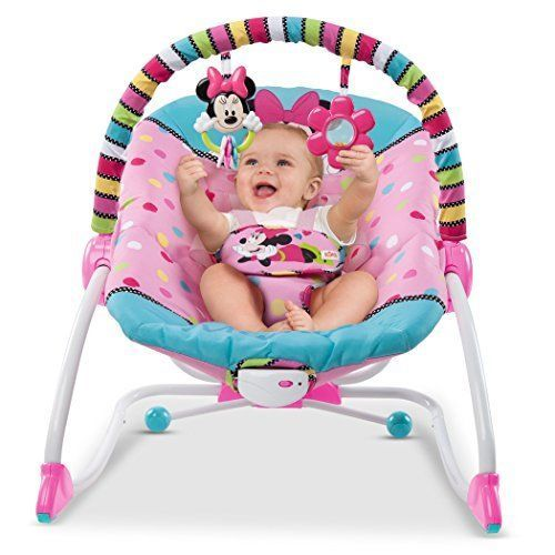Minnie Mouse Baby Rocker Chair Seat Recliner Toy Infant Toddler #Disney