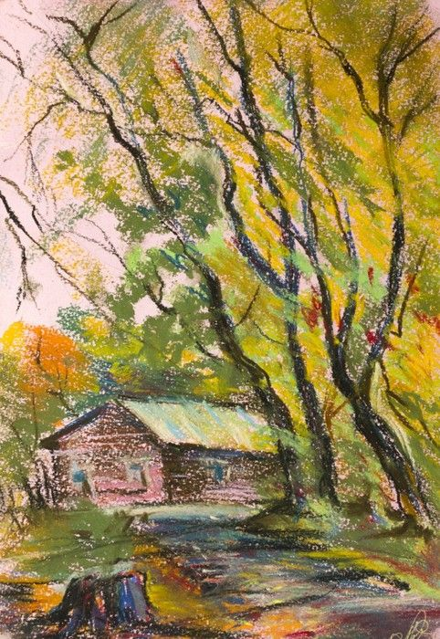 House With Trees from $34.99  | www.wallartprints.com.au #ImpressionismArt