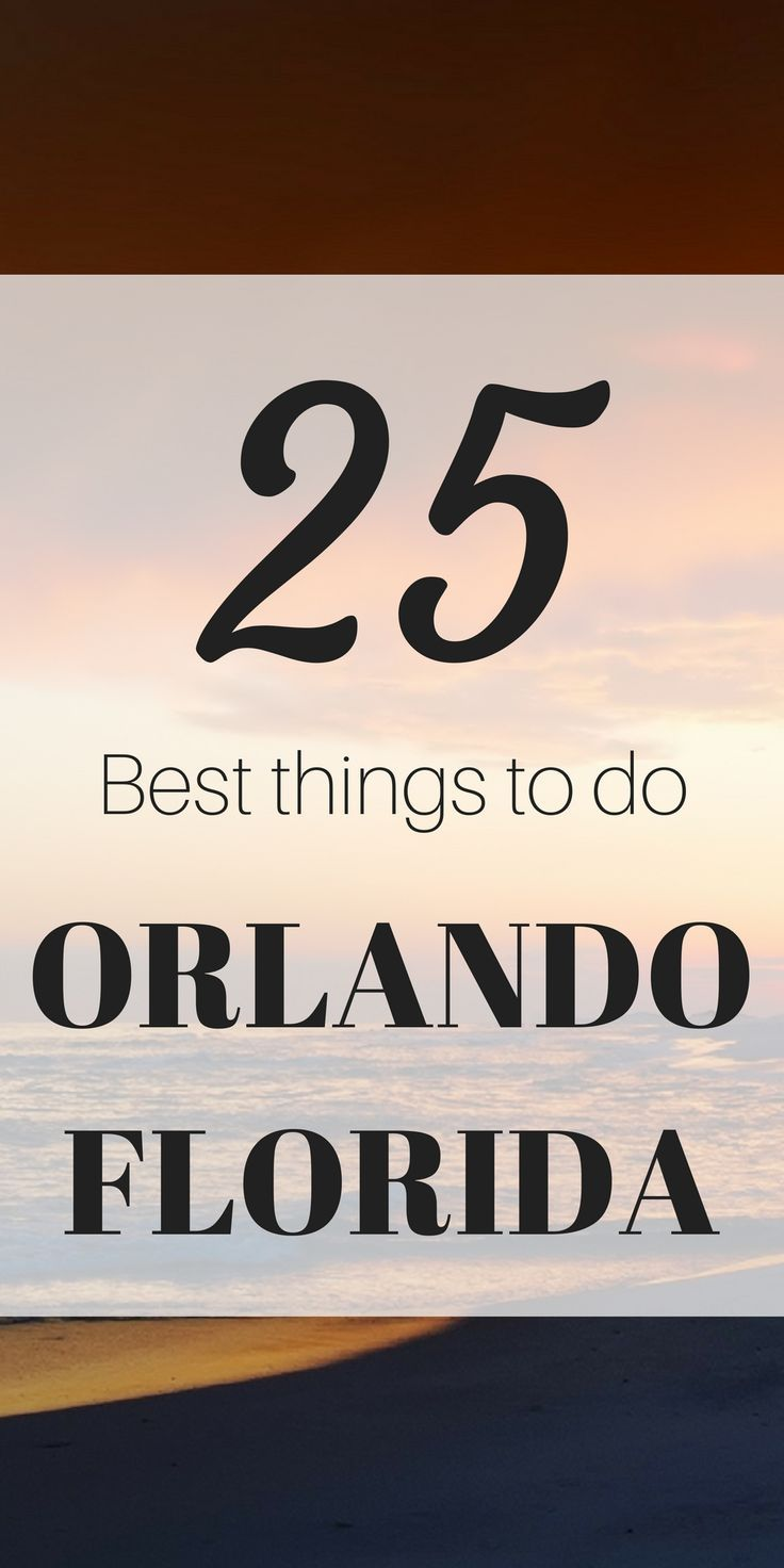 Here's a great guide on what to do in Orlando Florida! This list is fresh and will keep you busy for weeks.