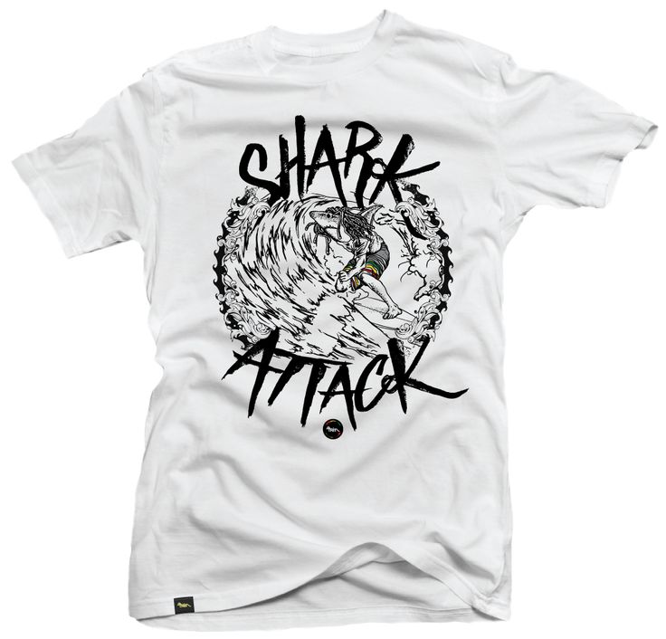 tshirt design, surf, tube riding, shark attack. More at www.jcgraciano.com