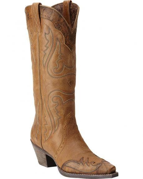 Ariat Women's Western X Toe Wingtip Golden Tan - 10015271